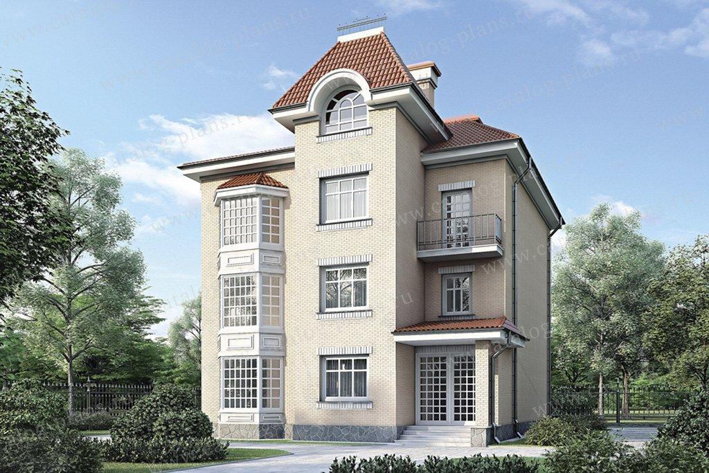 Проект жилой дом #34-69 материал - кирпич, стиль английский
