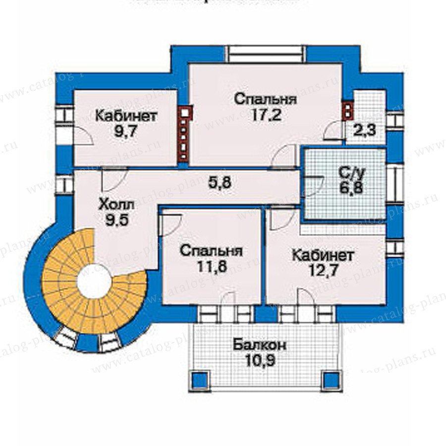 План 3-этажа проекта 34-56