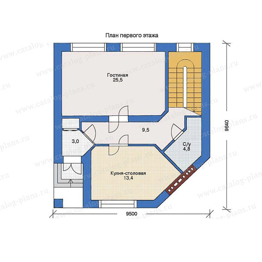 План 1-этажа проекта 34-72