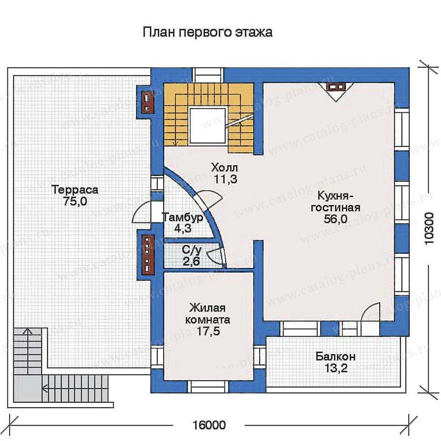 План 2-этажа проекта 34-84