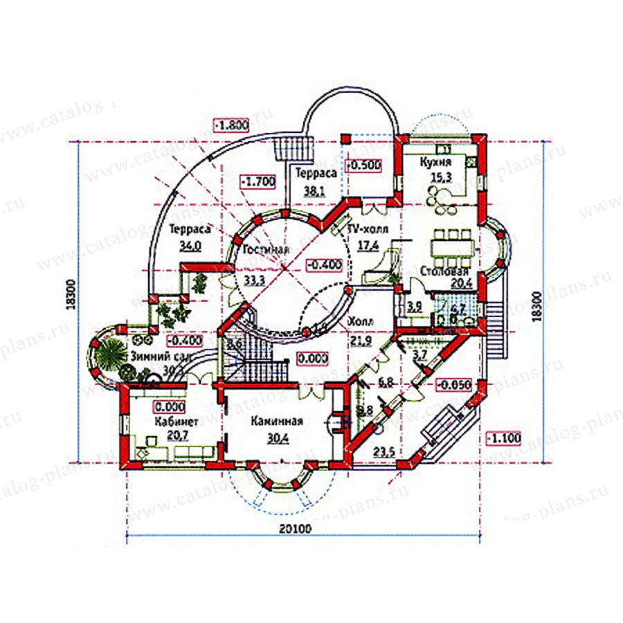 План 3-этажа проекта 34-18