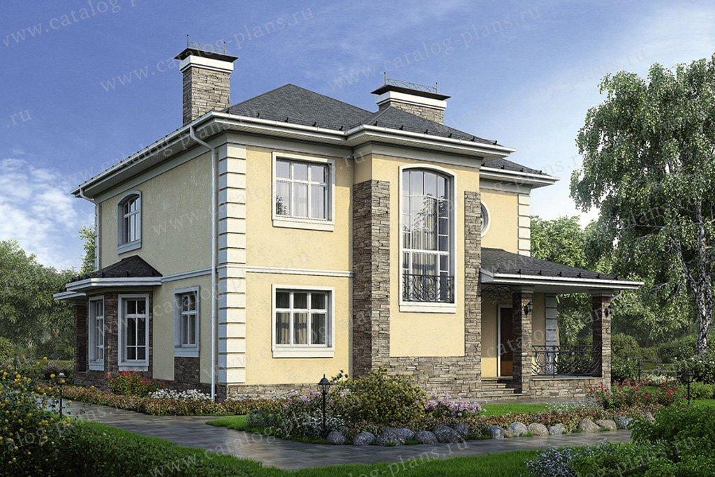 Проект жилой дом #34-51 материал - кирпич, стиль английский