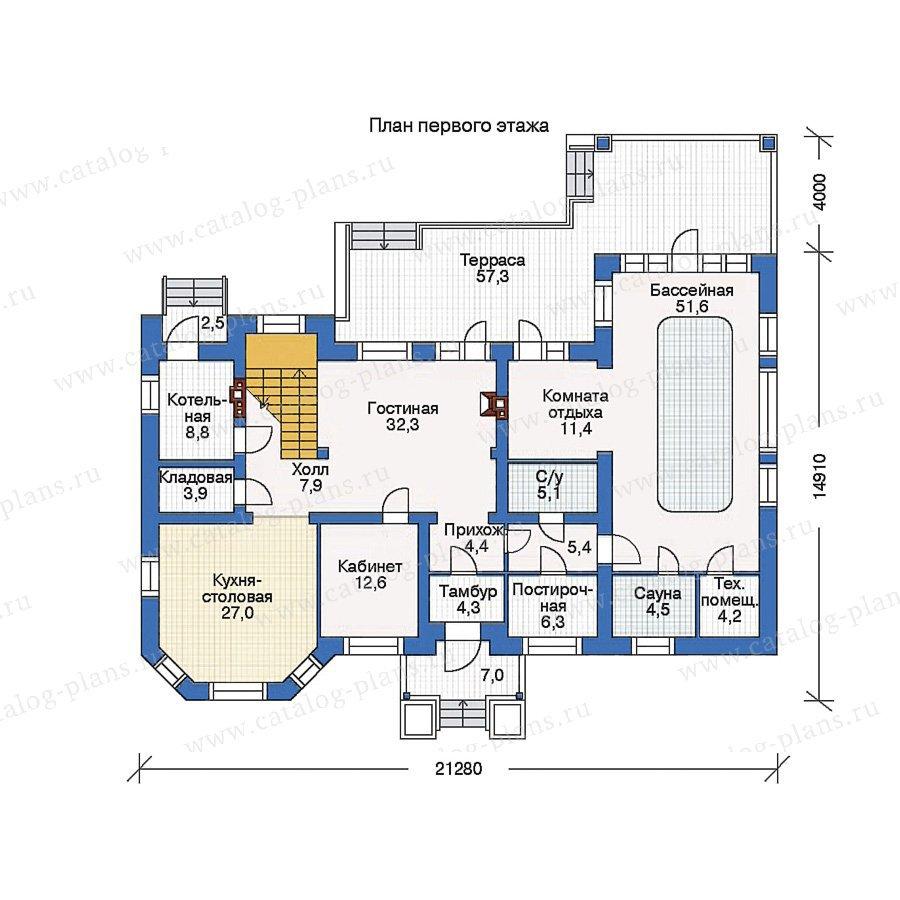 План 1-этажа проекта 34-49