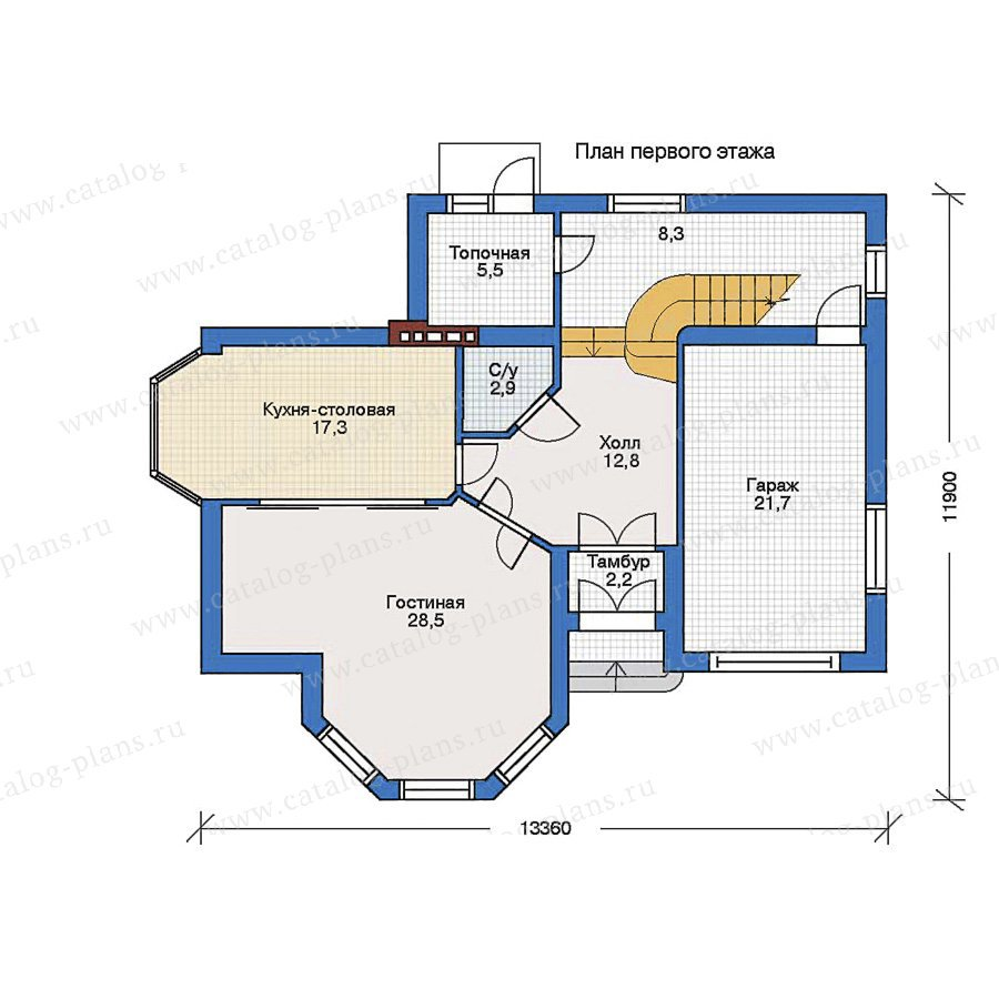 План 1-этажа проекта 34-38