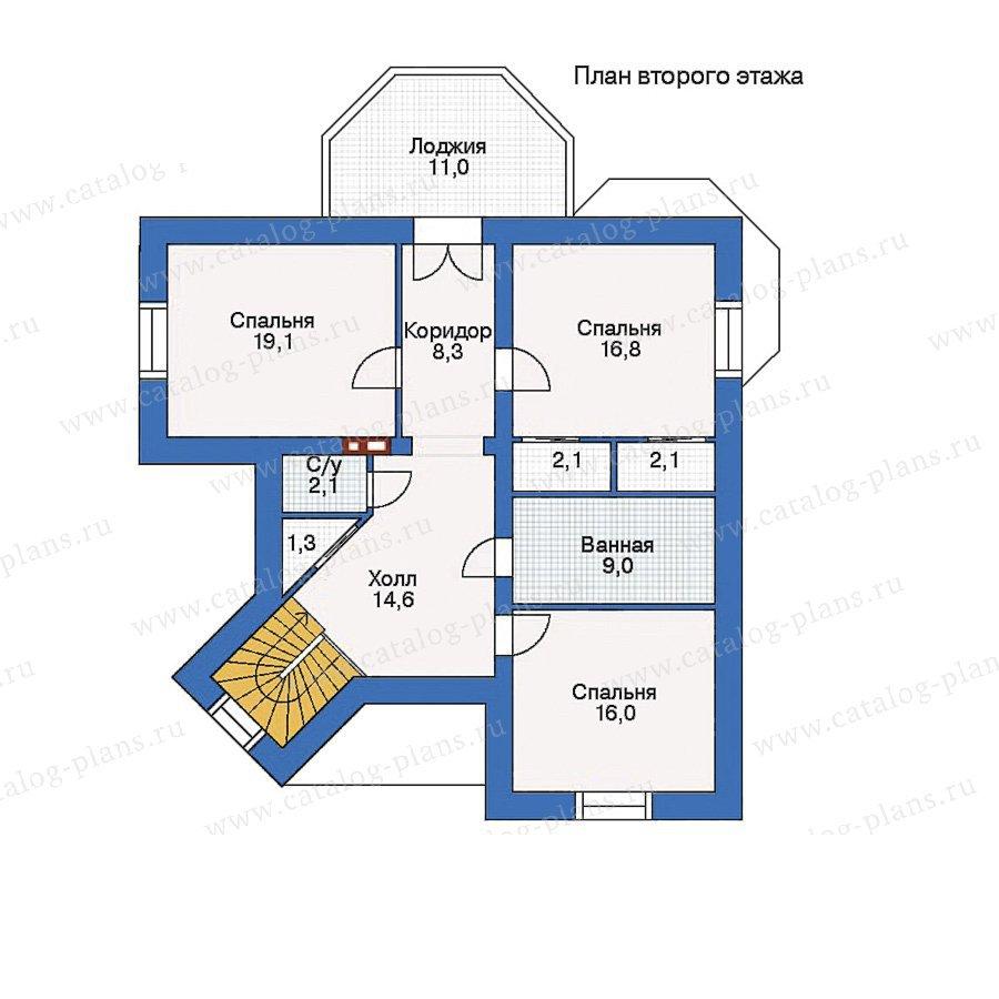 План 2-этажа проекта 34-46