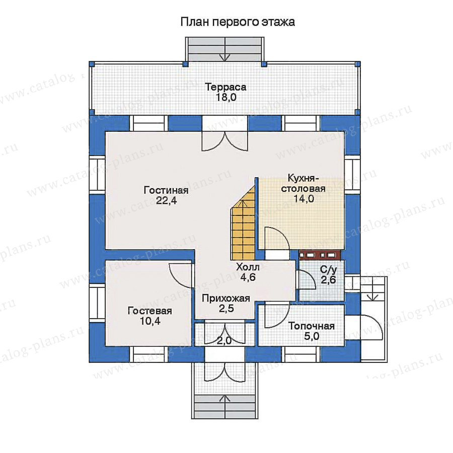 План 1-этажа проекта 34-57