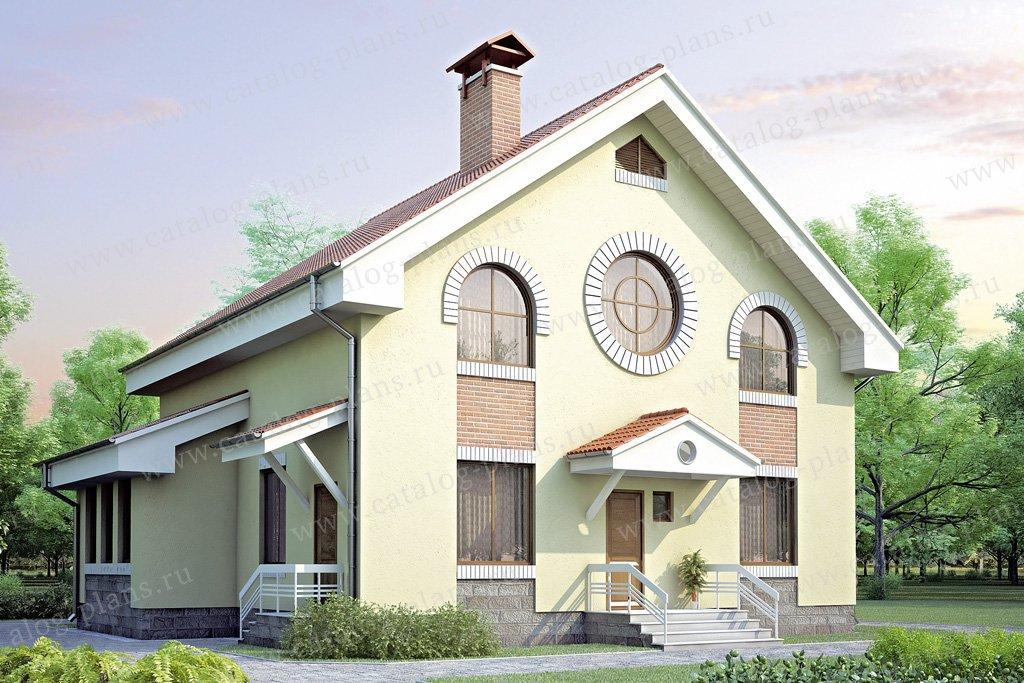 Проект жилой дом #34-93 материал - кирпич, стиль европейский