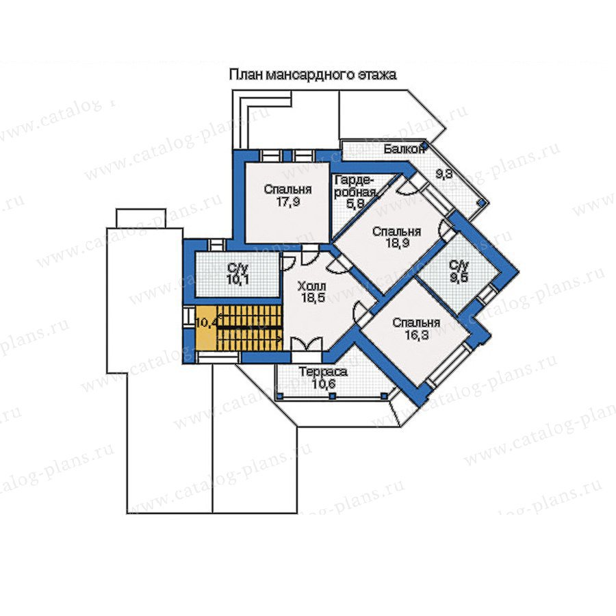 План 2-этажа проекта 34-75