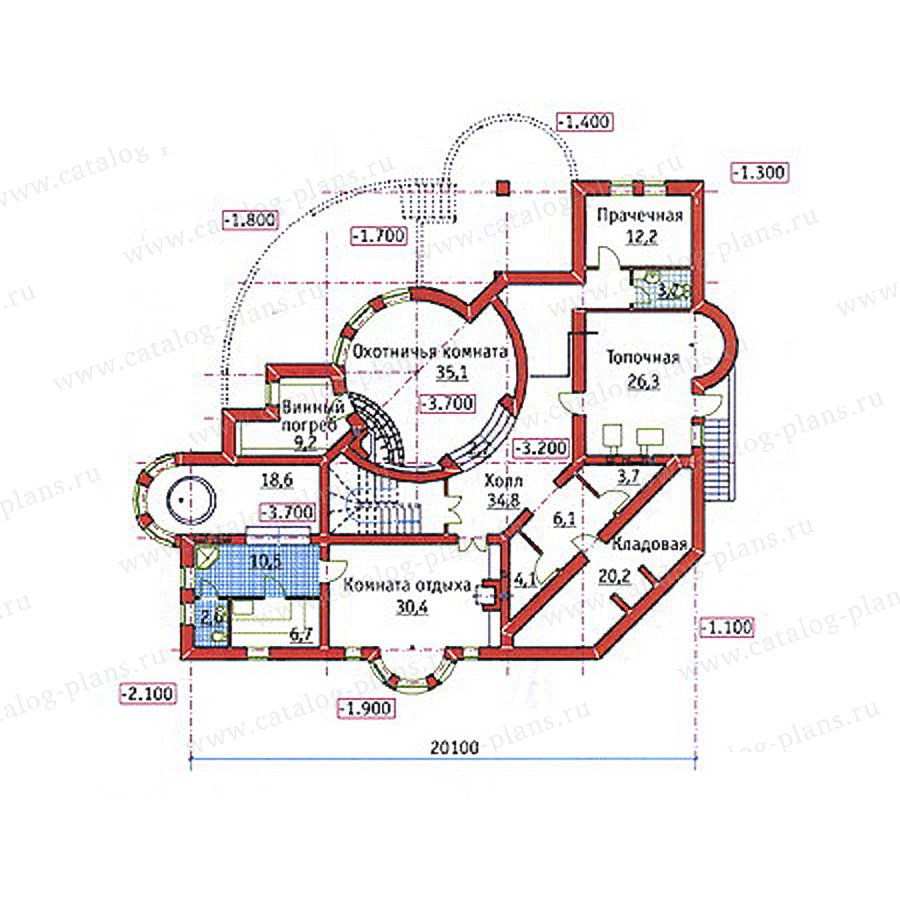 План 1-этажа проекта 34-18