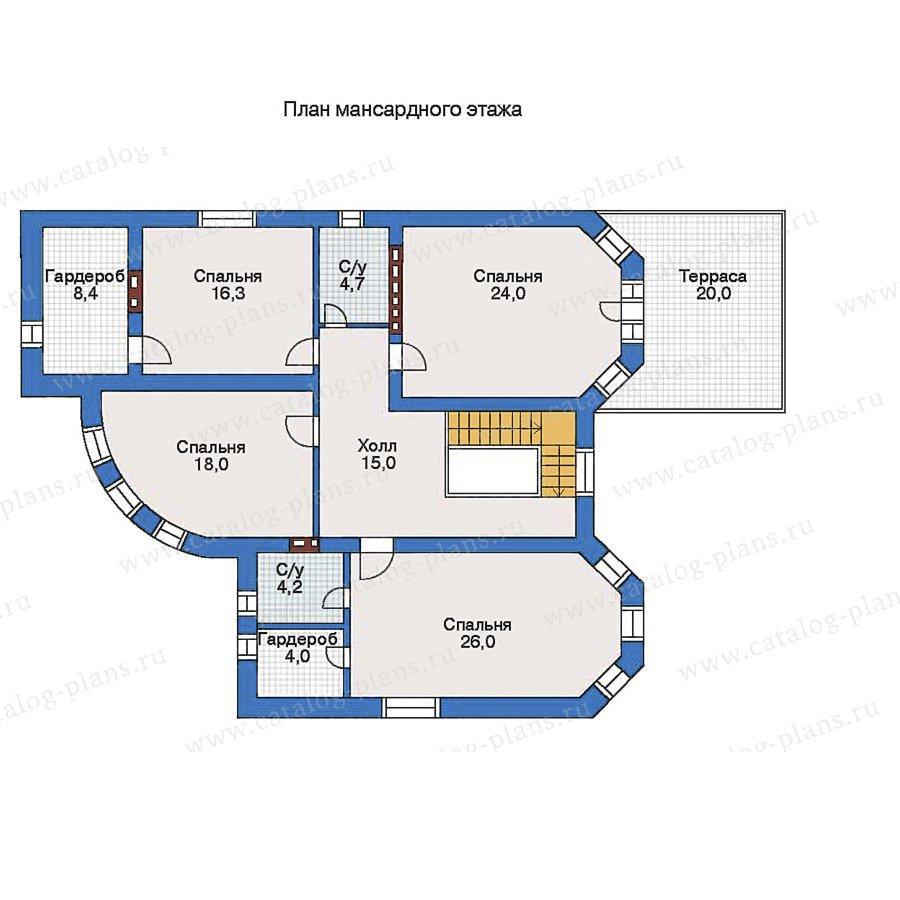 План 2-этажа проекта 34-87