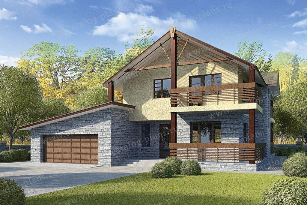Проект жилой дом #33-78 материал - кирпич, стиль немецкий