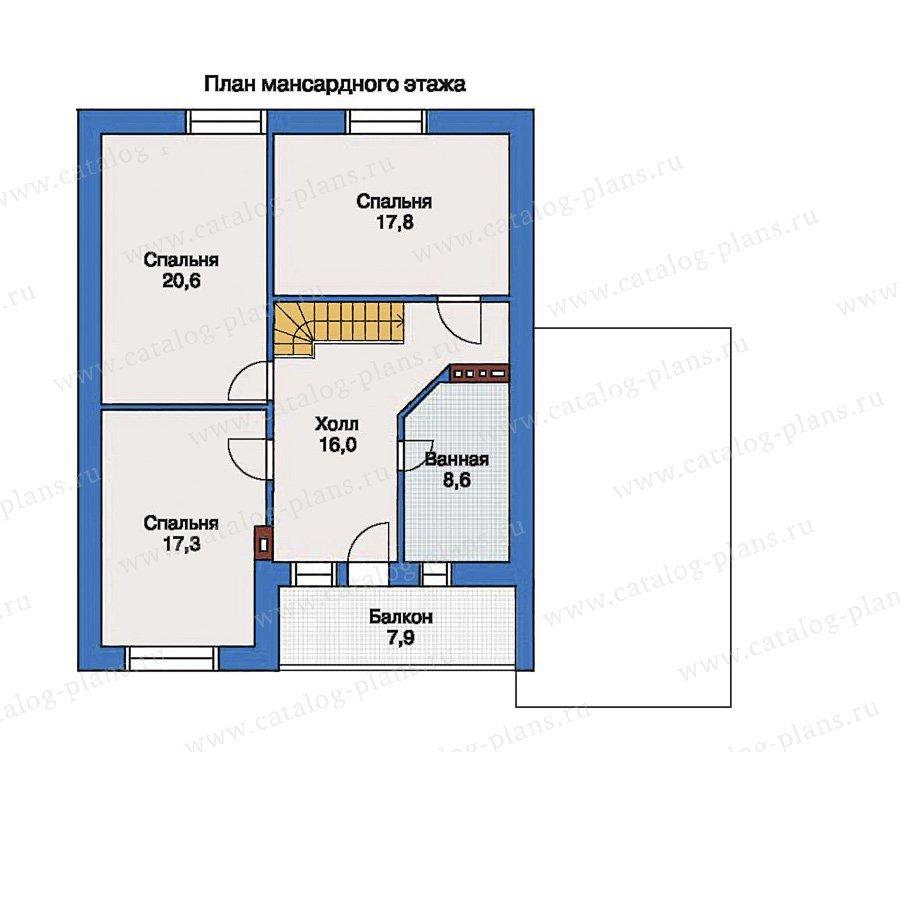 План 2-этажа проекта 33-38