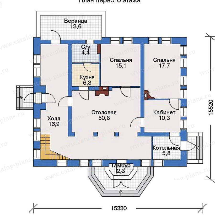 План 1-этажа проекта 33-51