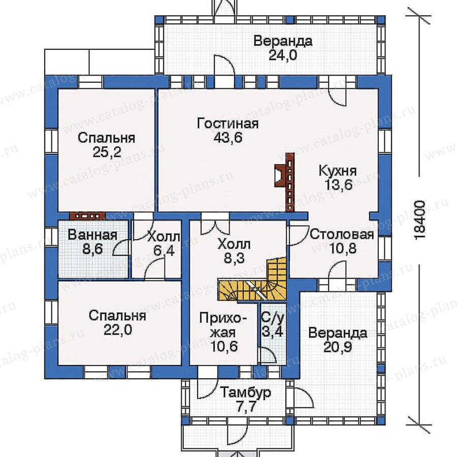 План 2-этажа проекта 33-08