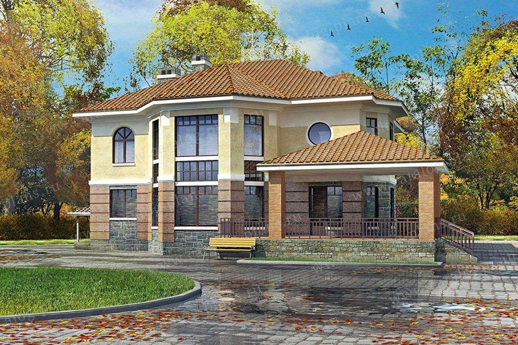 Проект жилой дом #33-52 материал - кирпич, стиль европейский