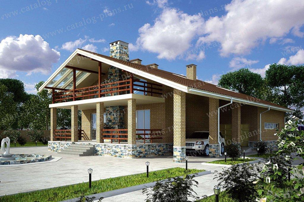 Проект жилой дом #33-63 материал - кирпич, стиль скандинавский