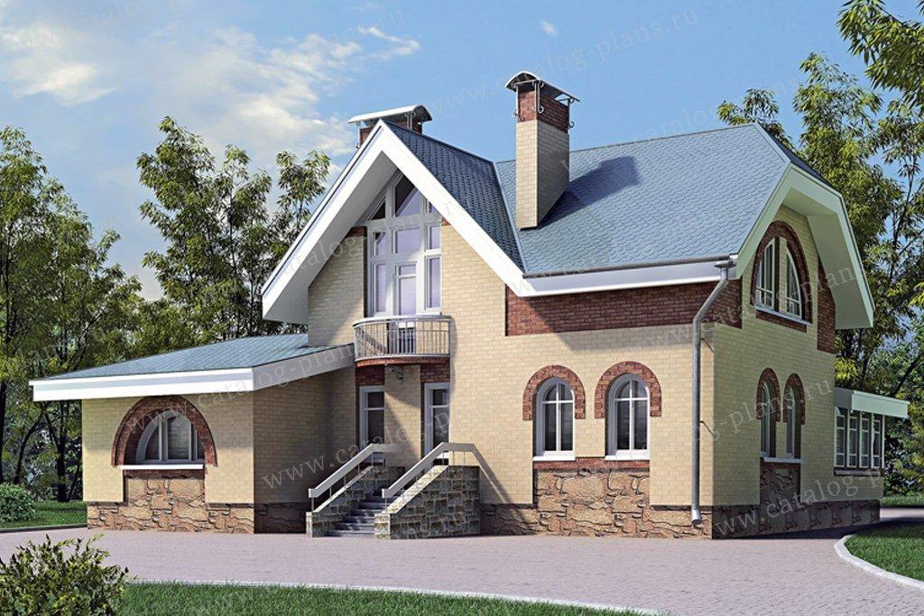 Проект жилой дом #33-55 материал - кирпич, стиль модерн