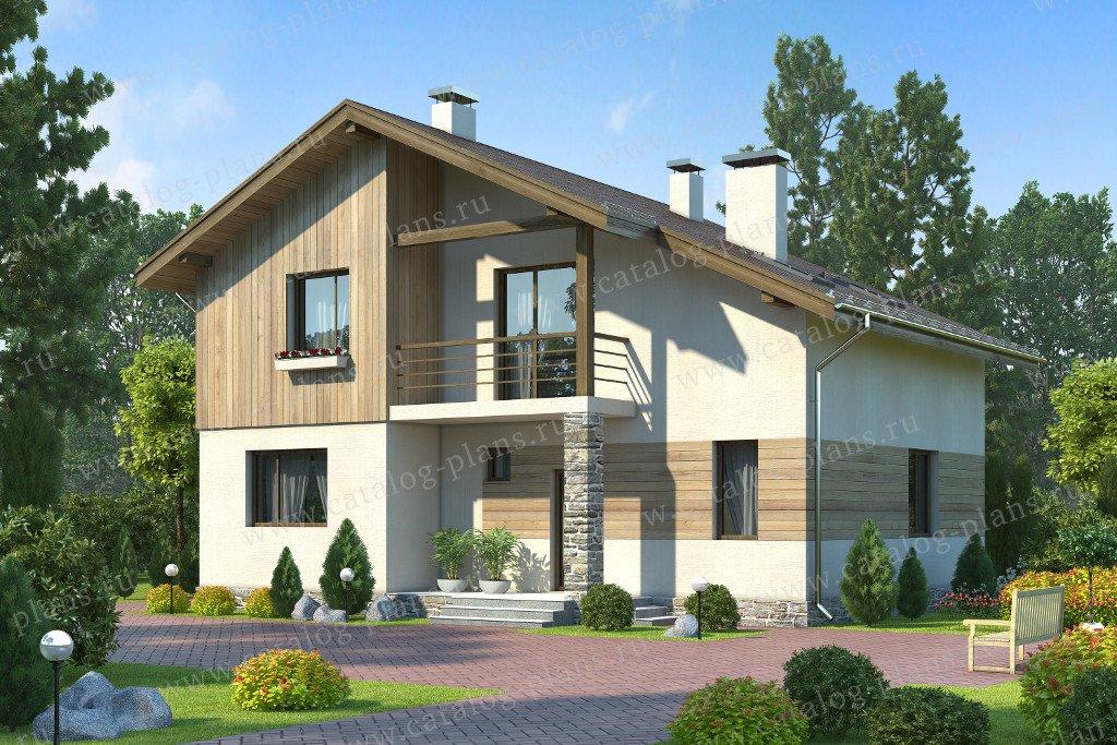 Проект жилой дом #60-21 материал - газобетон, стиль современный