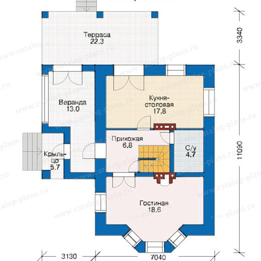 План 2-этажа проекта 33-98