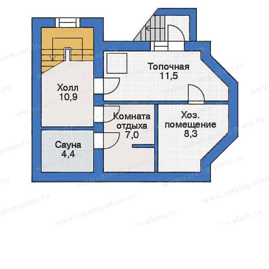 План 1-этажа проекта 33-91