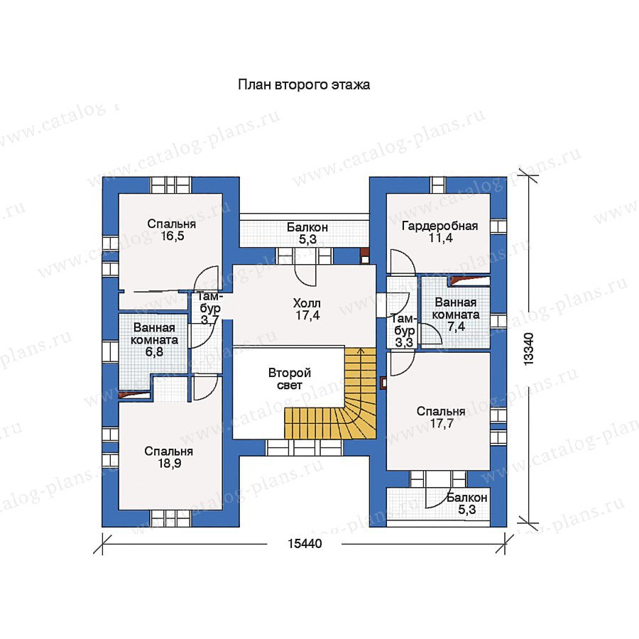 План 2-этажа проекта 45-45L