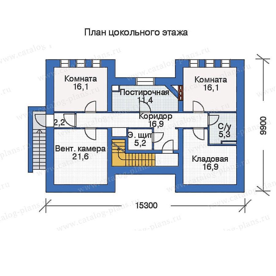 План 1-этажа проекта 33-68