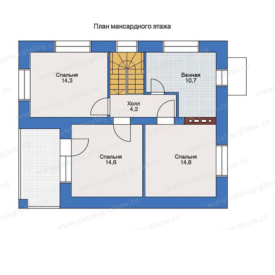 План 2-этажа проекта 33-06