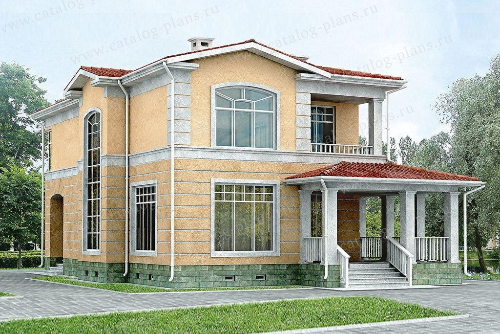 Проект жилой дом #33-22 материал - кирпич, стиль классический