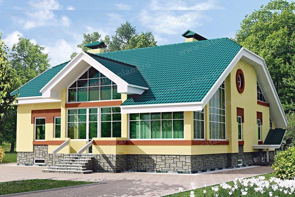 Проект жилой дом #33-08 материал - кирпич, стиль европейский