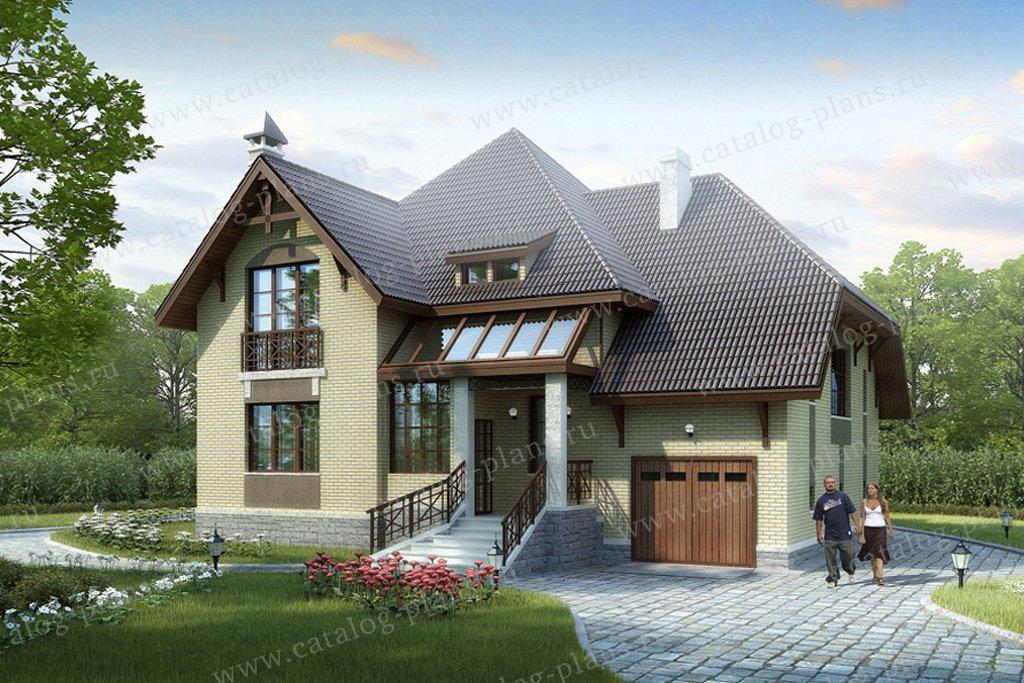 Проект жилой дом #33-96 материал - кирпич, стиль немецкий