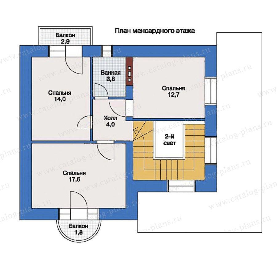 План 2-этажа проекта 33-56