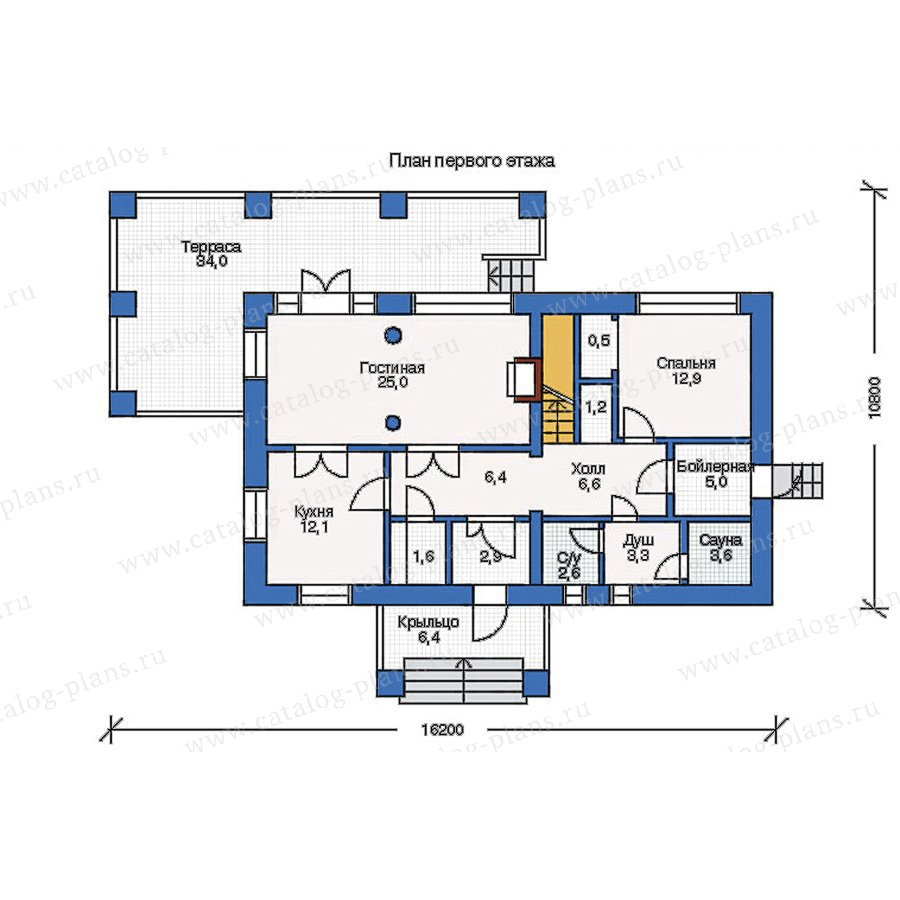 План 1-этажа проекта 33-23