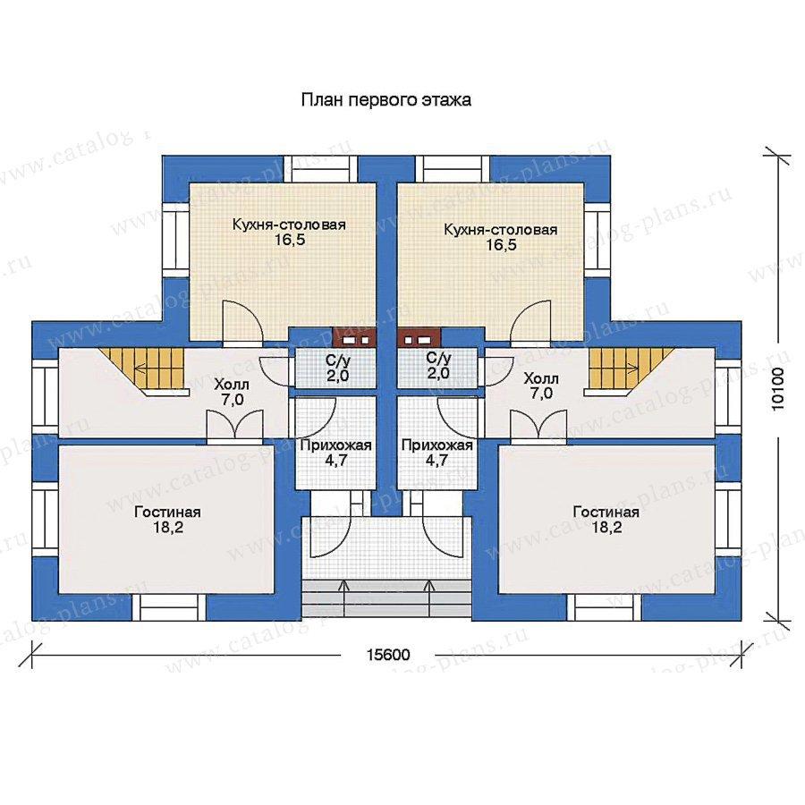 План 1-этажа проекта 33-80