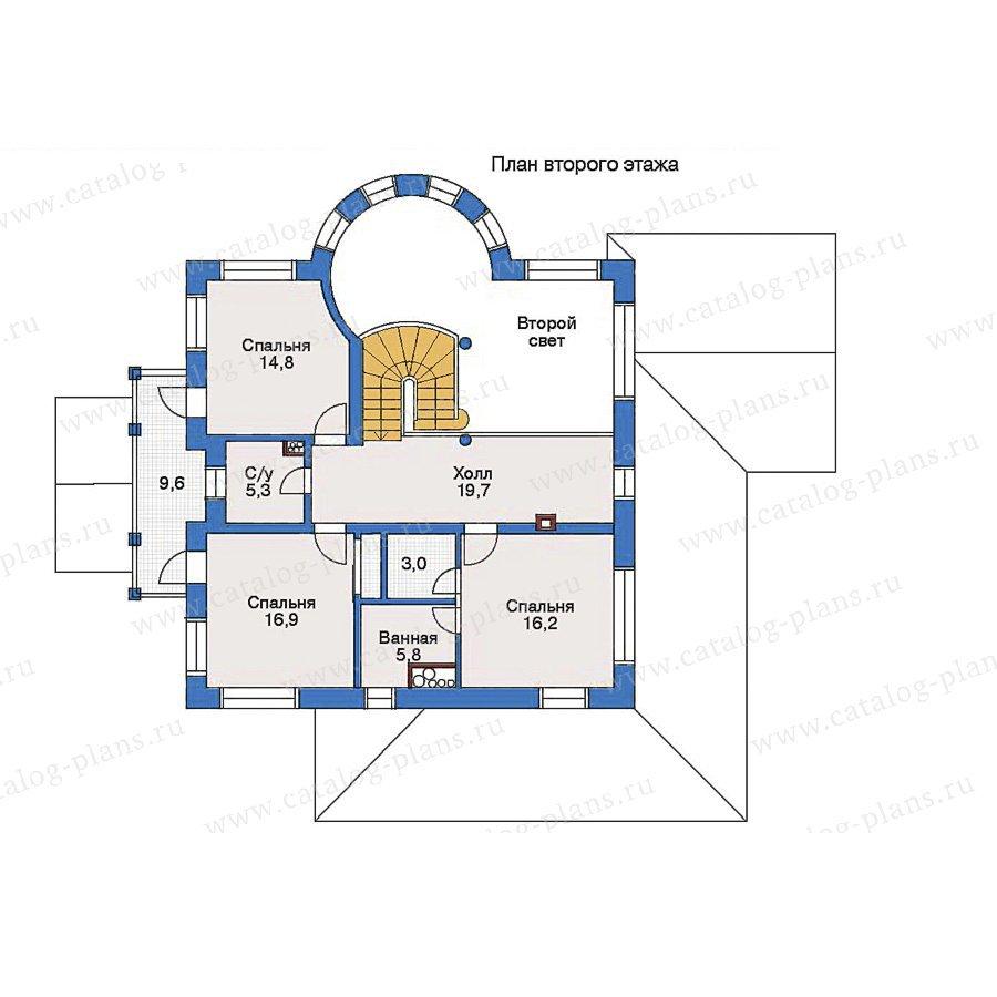 План 2-этажа проекта 33-24