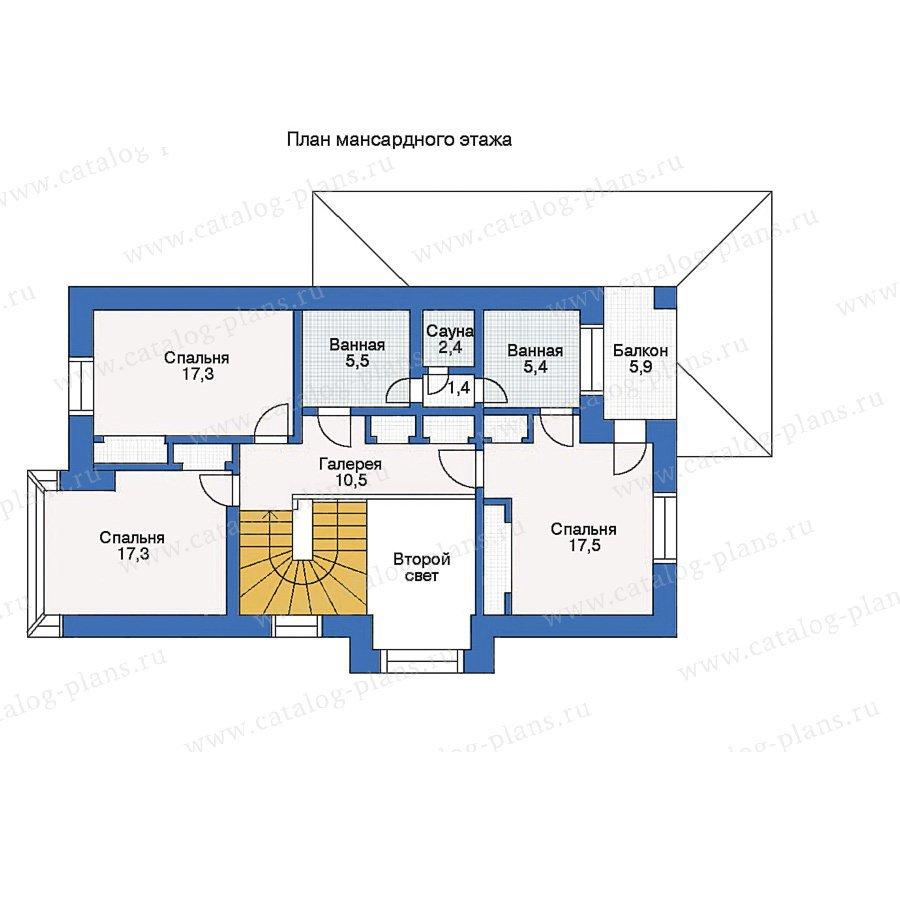 План 2-этажа проекта 33-22