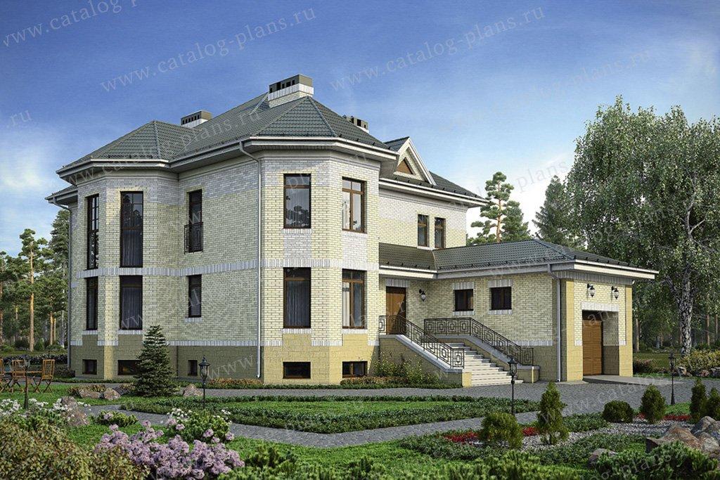 Проект жилой дом #33-50 материал - кирпич, стиль европейский