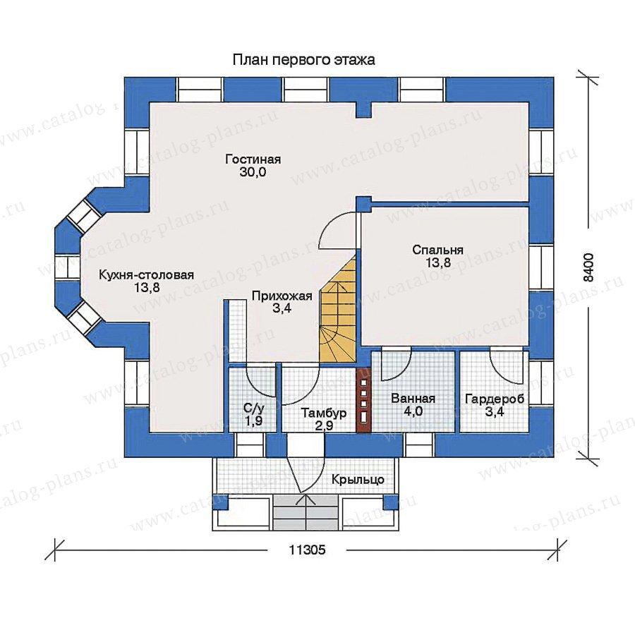 План 1-этажа проекта 33-01