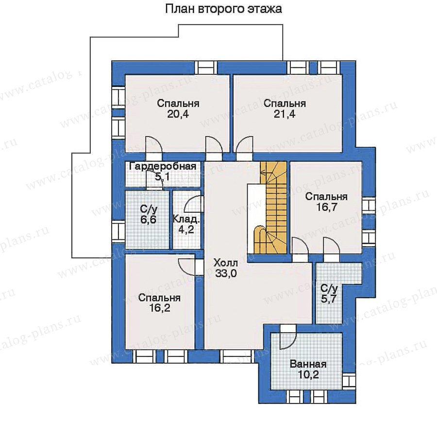 План 2-этажа проекта 33-93