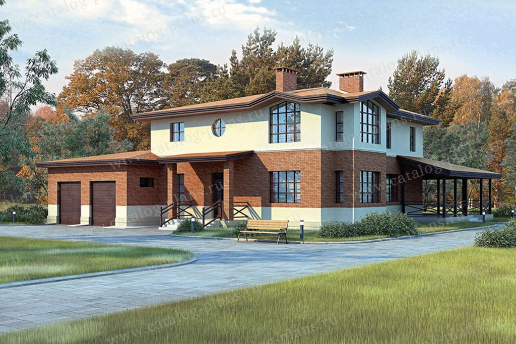 Проект жилой дом #33-45 материал - кирпич, стиль современный