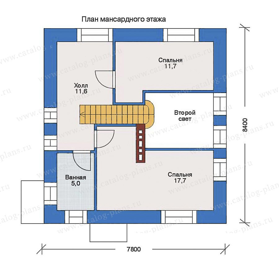 План 2-этажа проекта 33-70