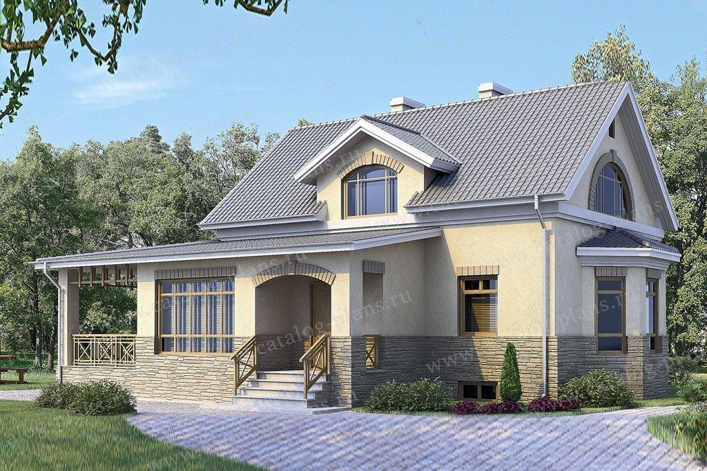 Проект жилой дом #33-98 материал - кирпич, стиль европейский