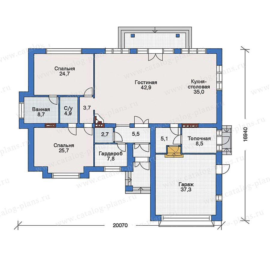 План 1-этажа проекта 33-15