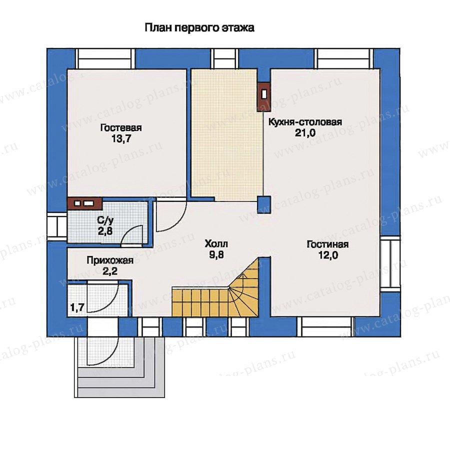 План 1-этажа проекта 33-40