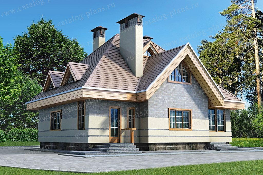 Проект жилой дом #33-02 материал - кирпич, стиль европейский