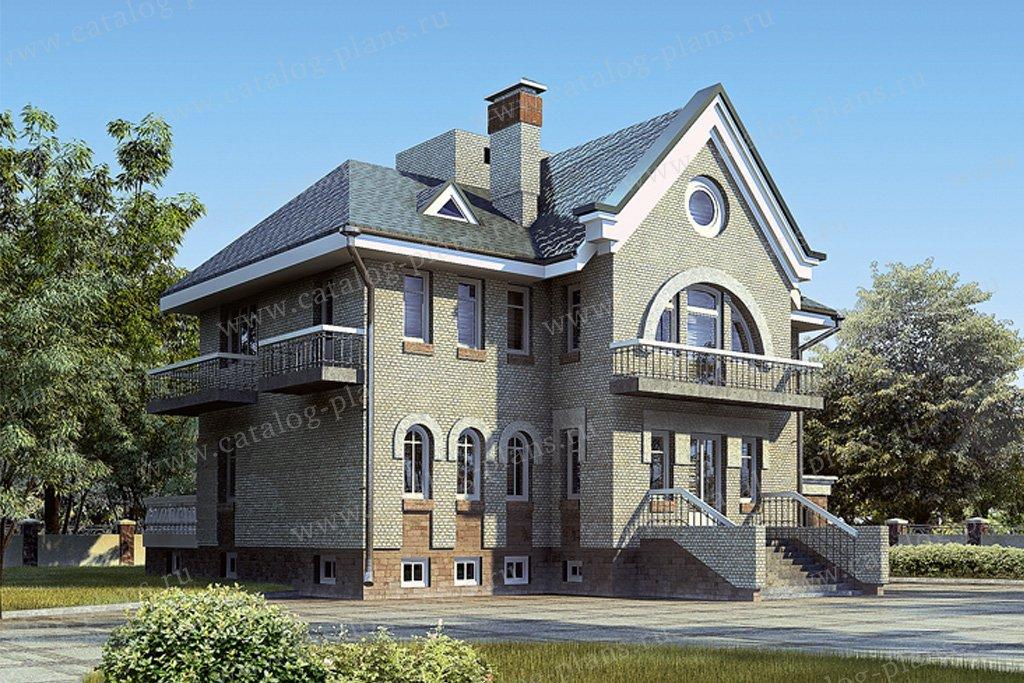 Проект жилой дом #33-53 материал - кирпич, стиль модерн