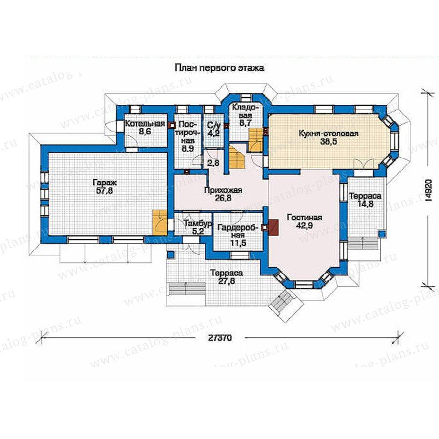 План 1-этажа проекта 33-57
