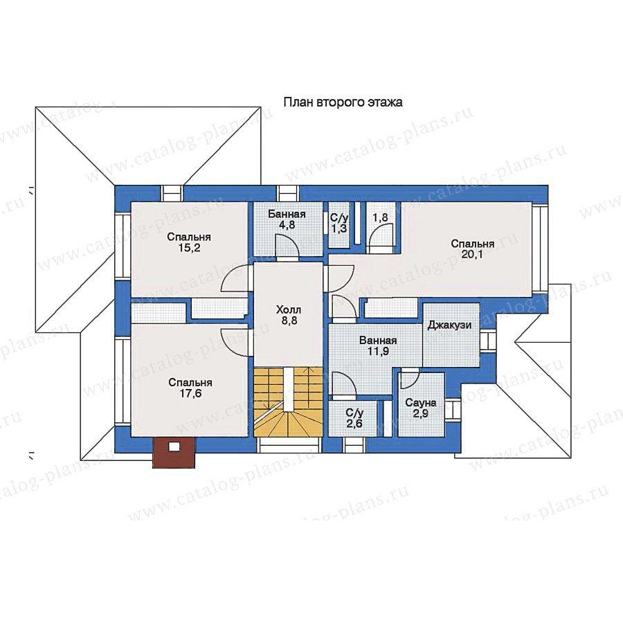 План 2-этажа проекта 33-27