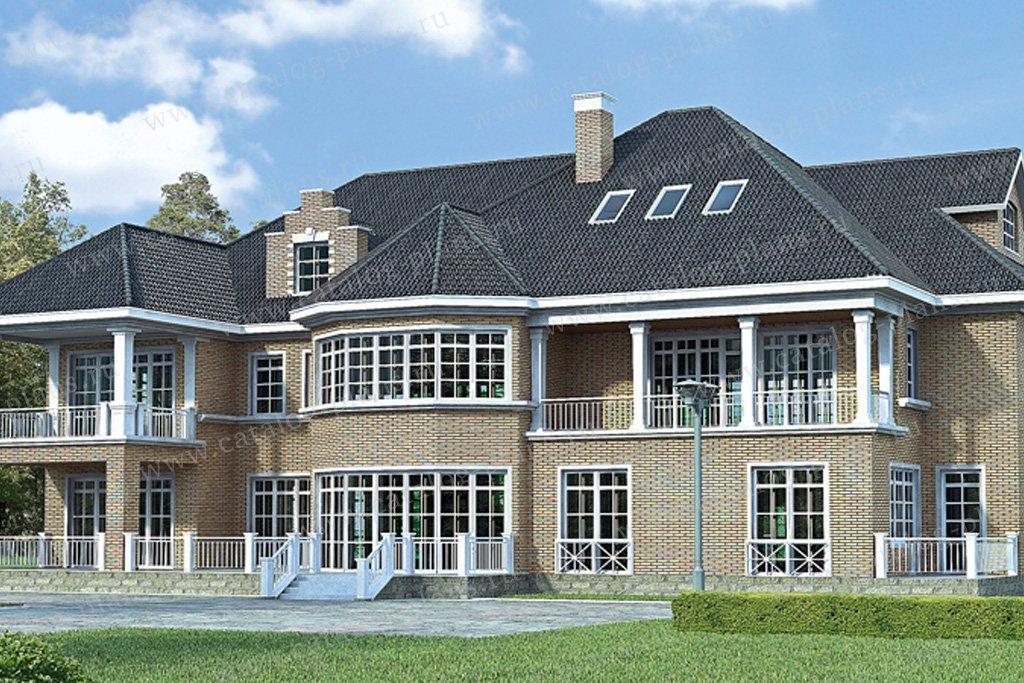 Проект жилой дом #33-64 материал - кирпич, стиль английский