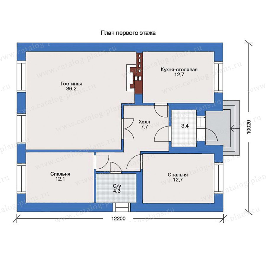 План 1-этажа проекта 33-18