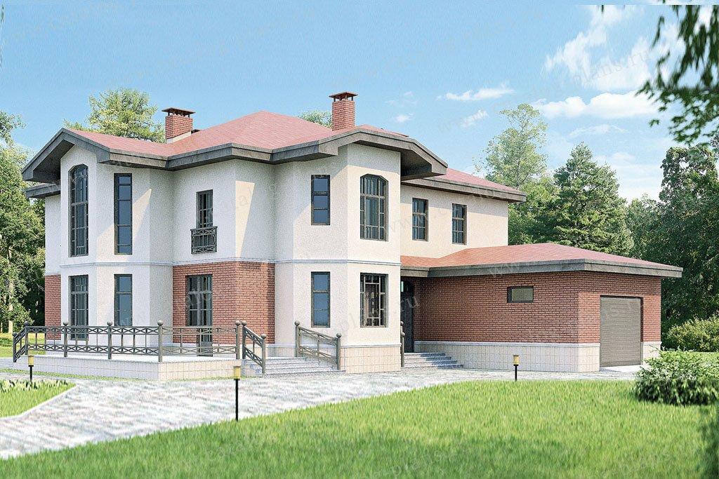 Проект жилой дом #33-88 материал - кирпич, стиль европейский